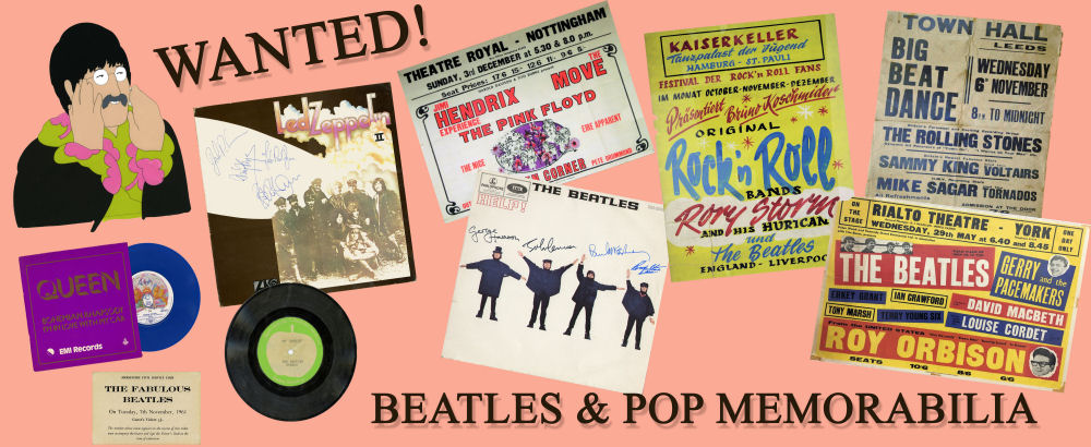 Beatles Memorabilia Wanted