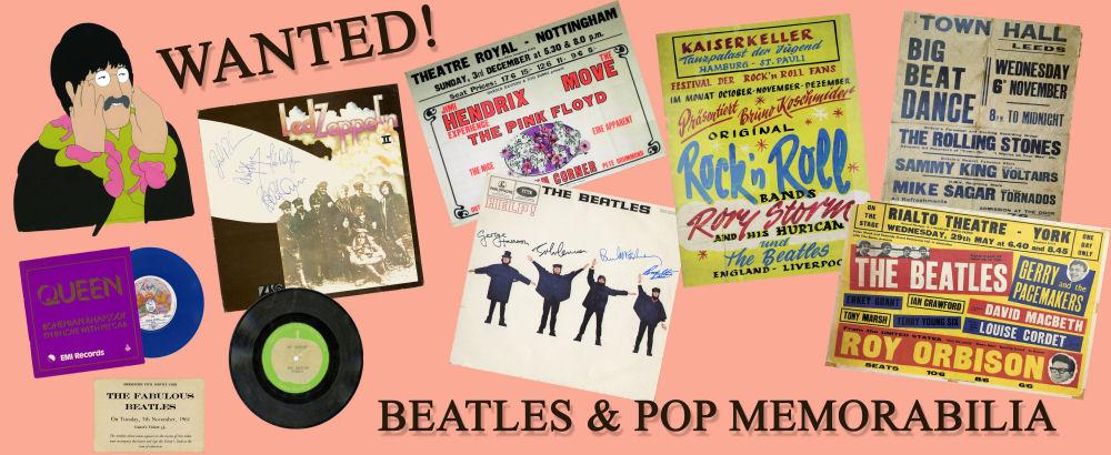 Beatles Memorabilia Wanted