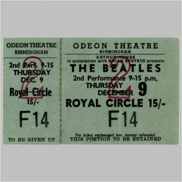 1965 Tickets And Stubs