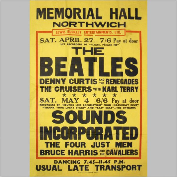 Beatles Concert Memorabilia Archives Tracks Ltd