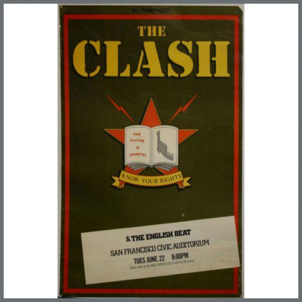 002769 - The Clash Concert Poster San Francisco Civic Auditorium June 1982