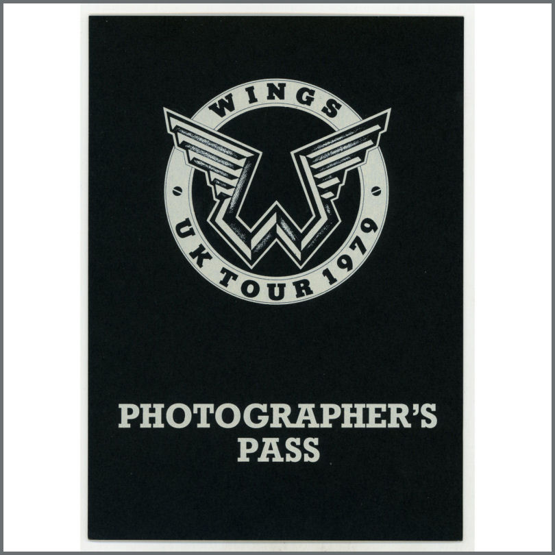 B25287 Paul McCartney 1979 Wings Tour Unused Photographers Pass UK