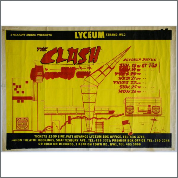 002751 - The Clash Concert Poster Lyceum October 1981