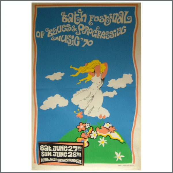 002072 - Bath Blues & Progressive Music Festival Poster June 1970