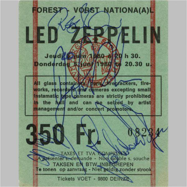 Led Zeppelin Autographs