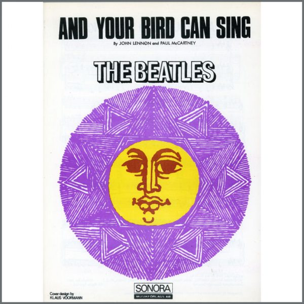 B25578 - The Beatles 1966 And Your Bird Can Sing Sonora Sheet Music (Scandinavia)
