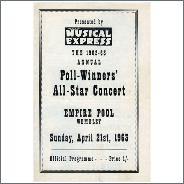 B05179B - The Beatles 1963 NME Poll-Winners Concert Programme (UK)