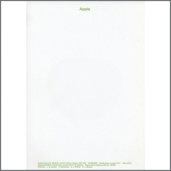 B15221 - Beatles Apple Headed Notepaper (UK)