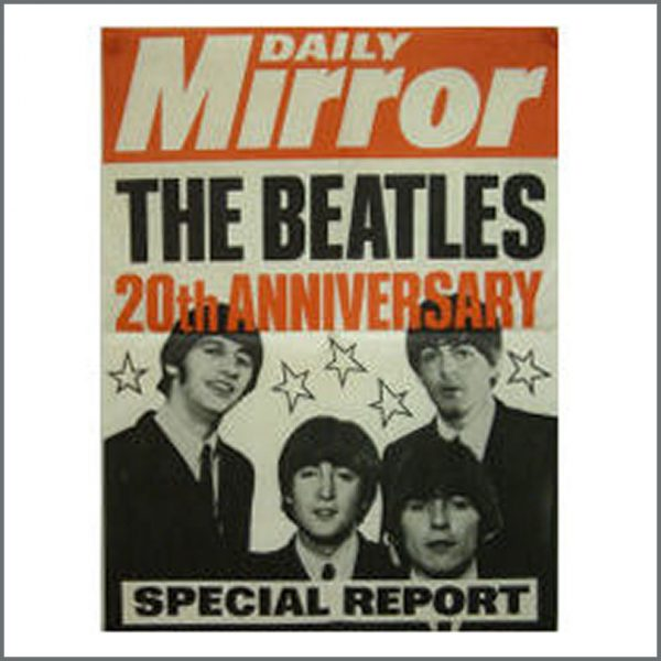 B15998 - Daily Mirror Promo Poster For The Beatles 20th Anniversary Special Report (UK)