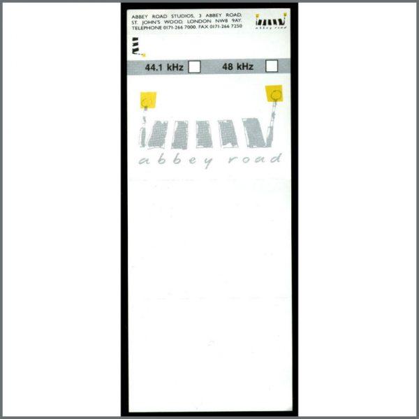 B20951 - Abbey Road Studios DAT Tape Inlay Slip (UK)
