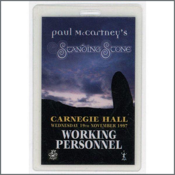 B21331 - Paul McCartney Standing Stone Laminate Pass (USA)