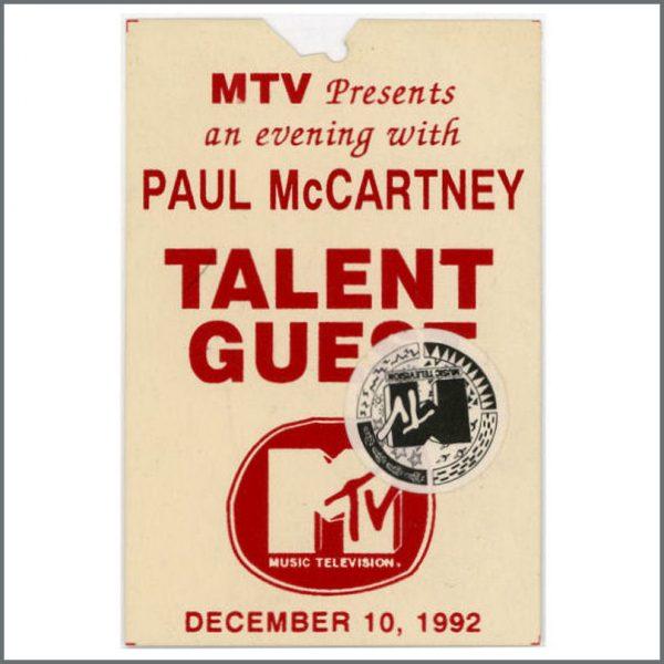 B21333 - Paul McCartney MTV Talent Guest Pass (USA)