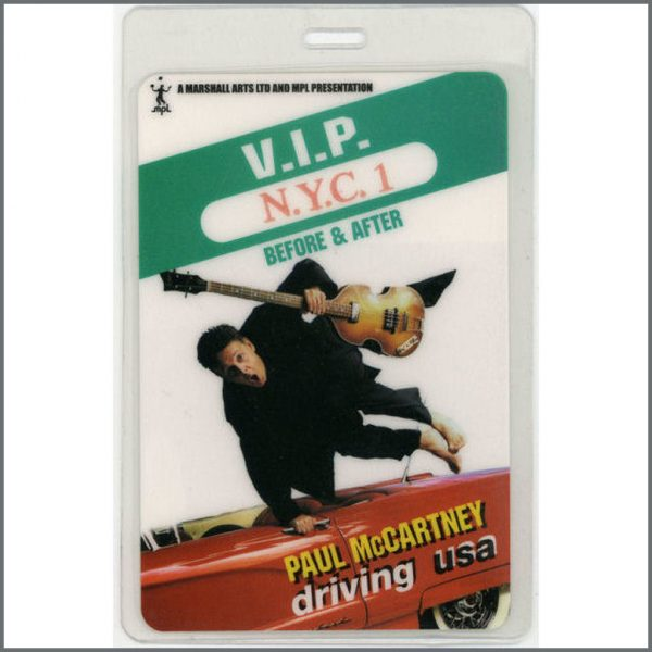 B21335 - Paul McCartney Driving USA Laminate Pass (USA)