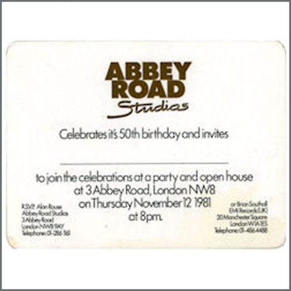 B21714 - Beatles Abbey Road 50th Anniversary Party Ticket (UK)