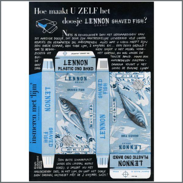B21796 - John Lennon Shaved Fish Promo Cut Out (Holland)