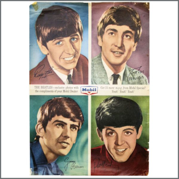 B21881 - The Beatles 1960s Mobil Promotional Poster (Australia)