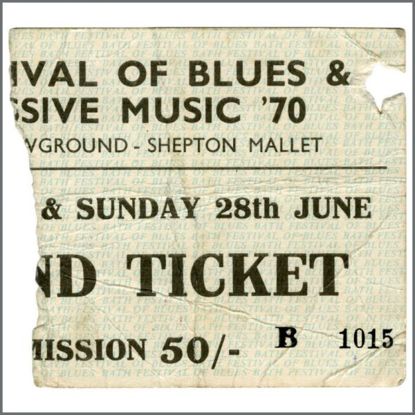 B22195 - Led Zeppelin 1970 Bath Festival Concert Ticket Stub (UK)
