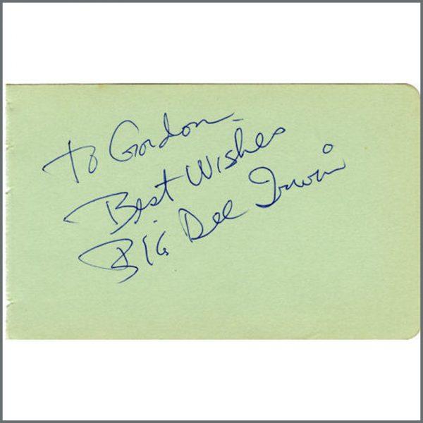 B22495 - Big Dee Irwin 1960s Signature (UK)