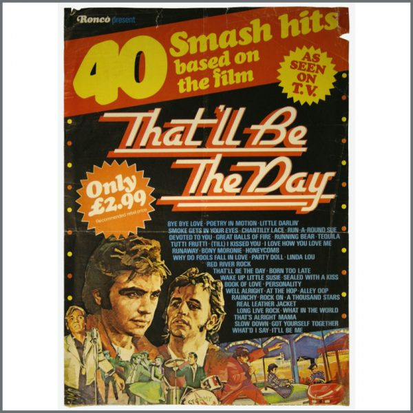 B22587 - Ringo Starr That'll Be The Day Soundtrack 1973 Promo Poster (UK)