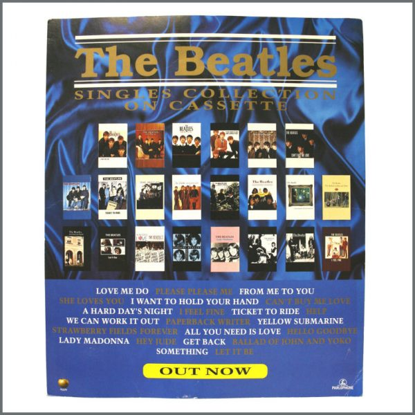 B22827 – The Beatles Singles Collection On Cassette 1991 Shop Display (UK)