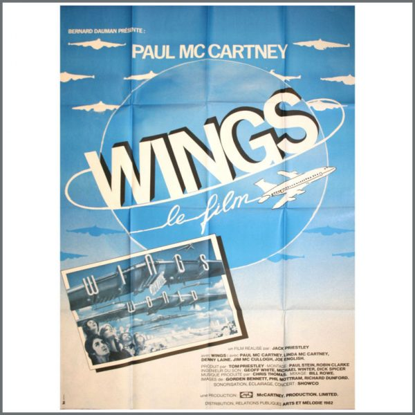 B22849 - Paul McCartney & Wings 1982 Wings Over The World Poster (France)
