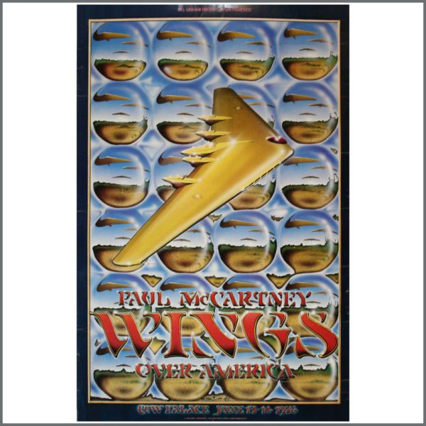 B22880 - Wings Over America 1976 Cow Palace Concert Poster (USA)