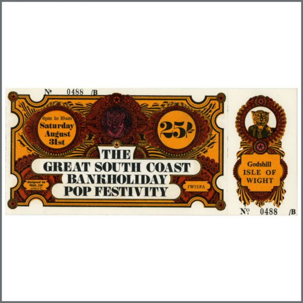 B23146 - T Rex 1968 Complete South Coast Bank Holiday Festival Ticket (UK)