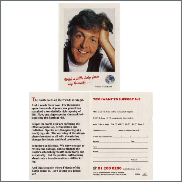 B23182 - Paul McCartney 1990 Friends Of The Earth Flyer (UK)