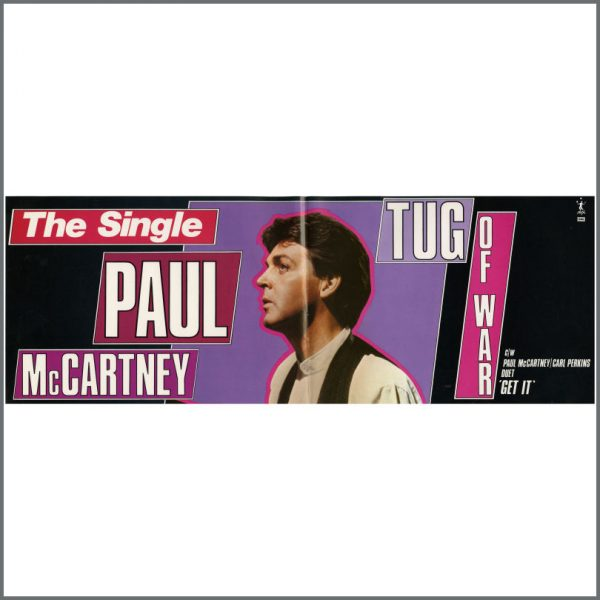 REDUCED! B23185 - Paul McCartney 1982 Tug Of War Banner (UK)