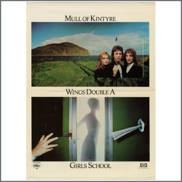B23186 - Wings 1977 Mull Of Kintyre / Girls School Promo Poster (USA)
