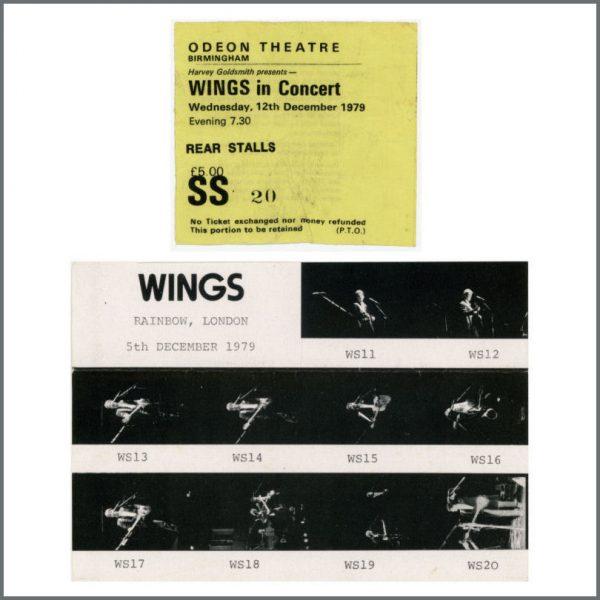 B23198 - Wings 1979 Birmingham Concert Ticket Stub (UK)