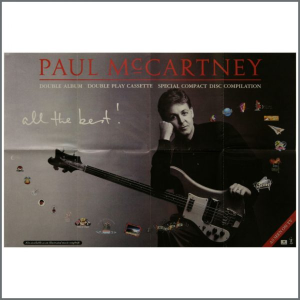 B23208 - Paul McCartney 1987 All The Best Promotional Poster (UK)