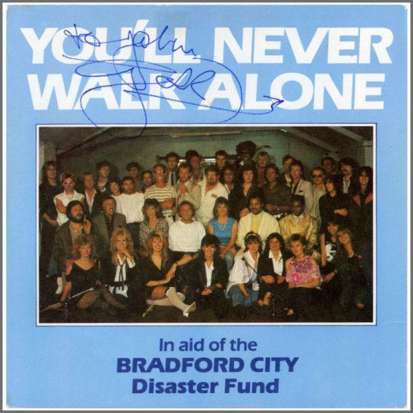 B23356 - Gerry Marsden 1986 Signed You'll Never Walk Alone Charity Single (UK)