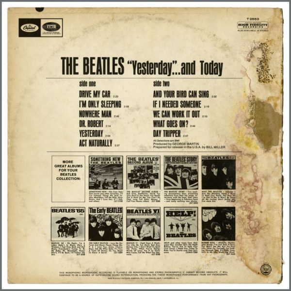 B23493 – The Beatles 1966 Yesterday And Today Unpeeled Second State Butcher Cover (USA) 2
