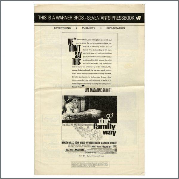 B23504 - The Family Way 1966 Press Book (USA)