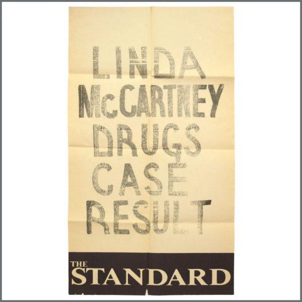B23537 – Linda McCartney 1984 The Standard Newspaper A-Board Poster (UK)