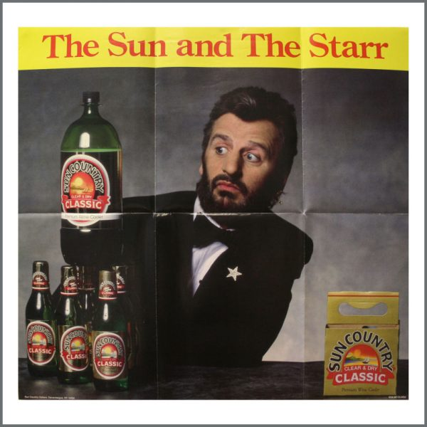 B23714 - Ringo Starr 1980s Sun Country Wine Cooler Poster (USA)