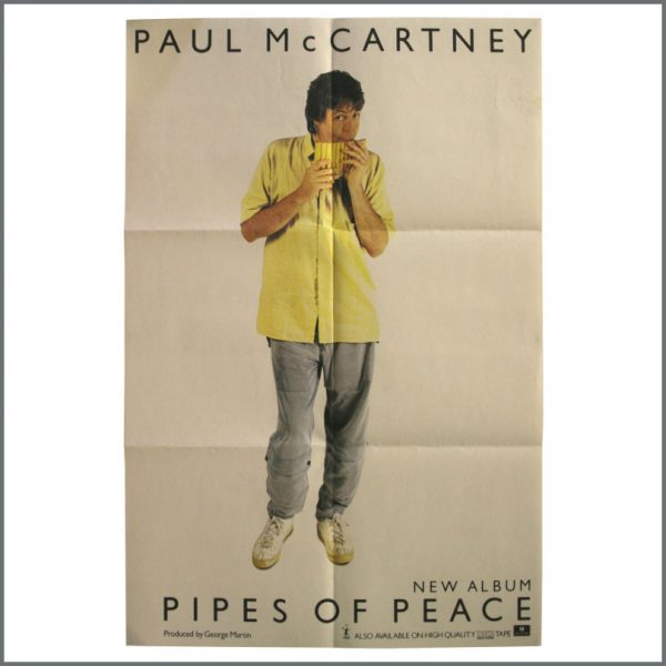 B23719 - Paul McCartney 1983 Pipes Of Peace Promotional Poster (UK)