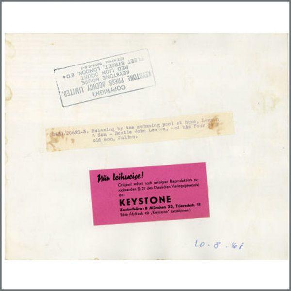 B23766 – John And Julian Lennon 1967 Kenwood Vintage Photograph (UK) 2