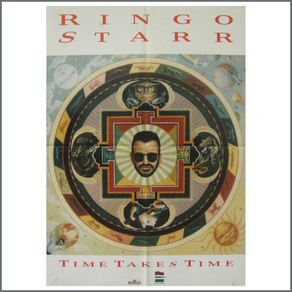 B23836 - Ringo Starr 1992 Time Takes Time Promotional Poster (USA)