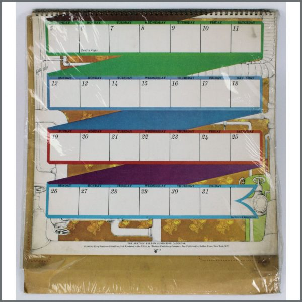 B23860 – The Beatles 1969 Yellow Submarine Calendar (USA) 2