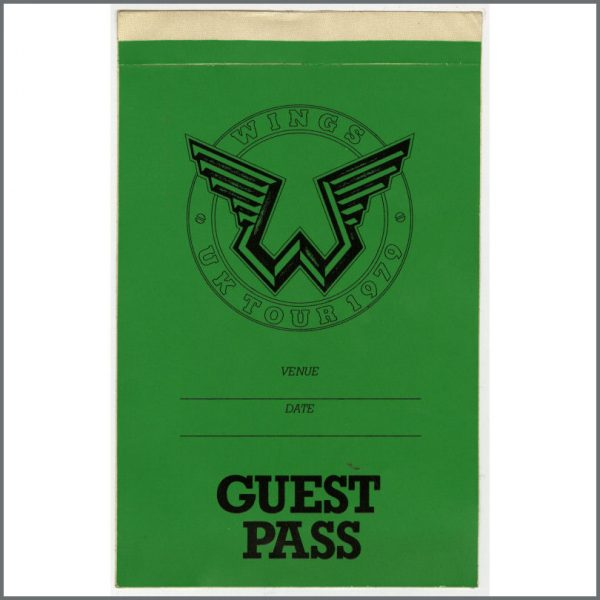 B23876 - Wings 1979 Tour Guest Pass (UK)