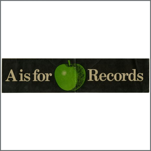 B23881 - A Is For Apple Records 1970s Banner Sticker (UK)