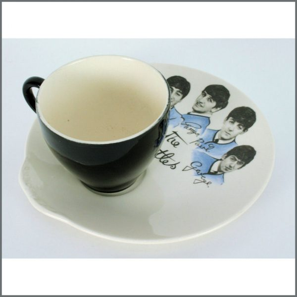 B23904 - The Beatles 1960s Tea Cup And Biscuit Plate (UK)