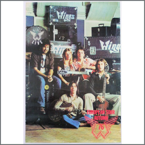 REDUCED! B23935 - Wings 1976 Tour Promotional Poster (Europe)