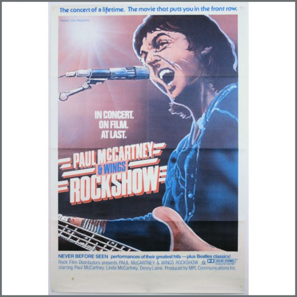 B23938 - Paul McCartney And Wings 1980 Rockshow Promotional Poster (USA)