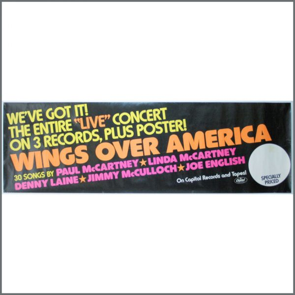 B23940 - Wings 1976 Wings Over America Capitol Records Banner Poster (USA)