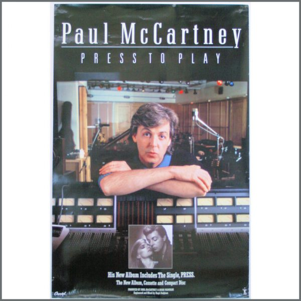 B23941 - Paul McCartney 1986 Press To Play Capitol Records Poster (UK)