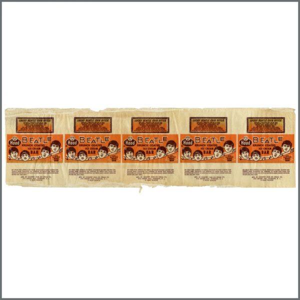 B23964 - The Beatles 1960s Hood Ice Cream Bar Wrapper (USA)