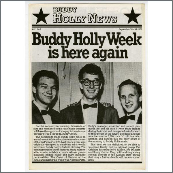 B24107 – Buddy Holly Week 1977 Promotional Items (UK)